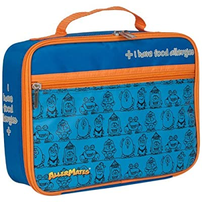 AllerMates I Have Food Allergies Fun Characters Eco Friendly Insulated Children's Food Safety Lunch Box Bag - Blue: Health & Personal Care