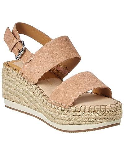 b808099e99bd8 Amazon.com: Dolce Vita Mauri Suede Wedge Sandal, 8, Pink: Shoes