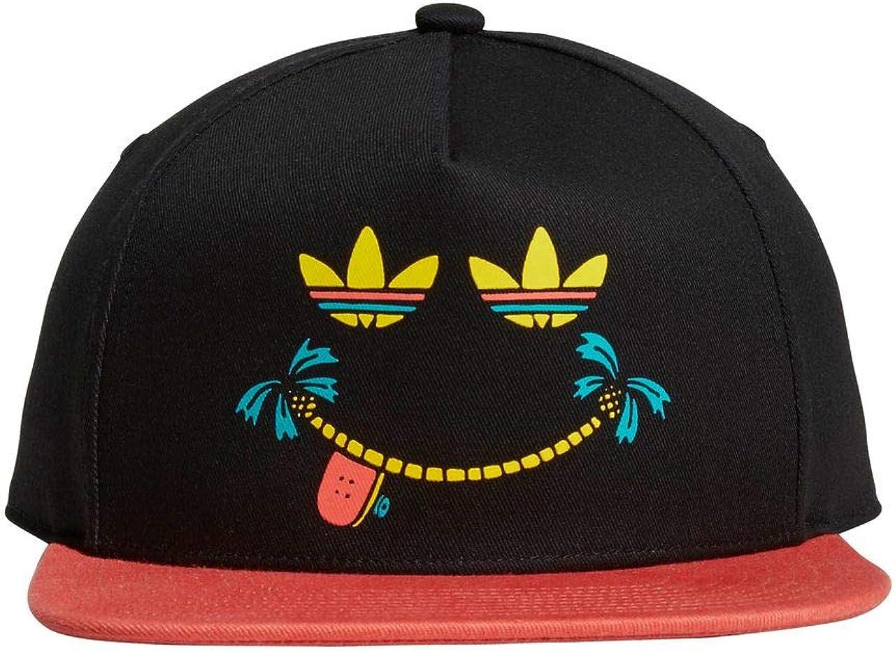 adidas Gorra Negra Smiles Visera Plana ROJA (OSFM): Amazon.es ...