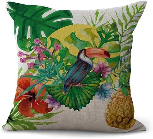 My-a1083 coussin style Tropical animaux sauvages S/érie Arbre Ours Zebra Parrot Rouge Flamingo Lion Taie d/'oreiller Home Bar Club de voiture Lit canap/é D/écor coussin (45/x 45/cm 01