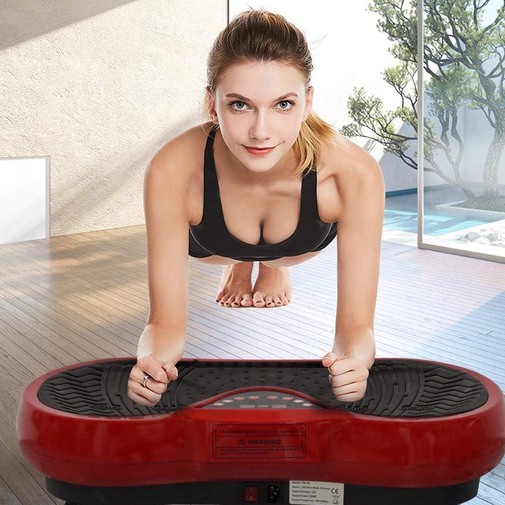 Best Goods Fitness Ultra Slim Power Plataforma vibratoria para fitness Dual Motor 3D Plataforma vibratoria Superficie antideslizante extra grande Despega la grasa y moldea el cuerpo de casa