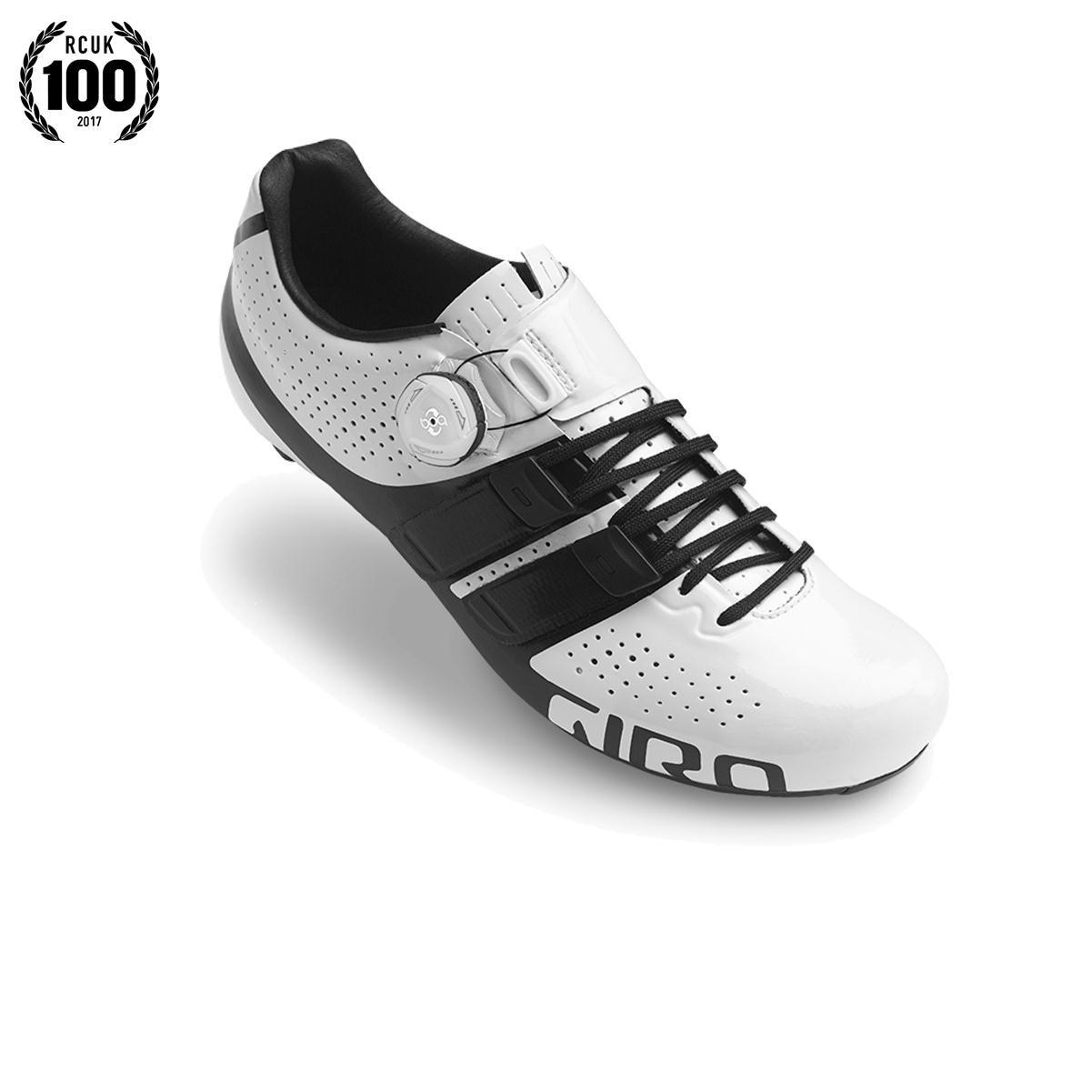 Giro Factor Techlace Road Cycling Shoes B01LZ43OB6 39.5 M EU|White/Black