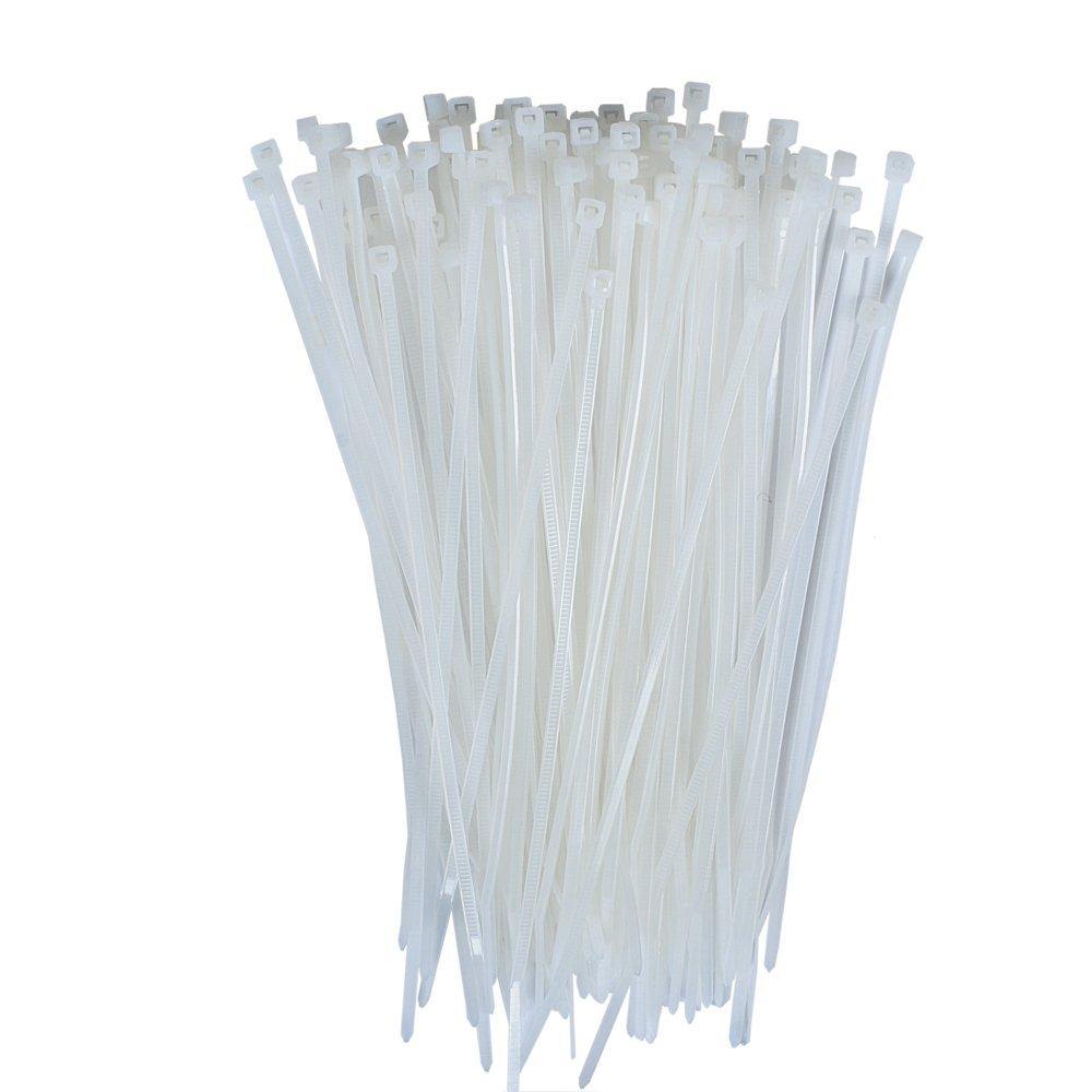 Dxg 100 Pack 4 Inch 2.5*100mm Self locking Nylon Cable Ties Zip Ties White