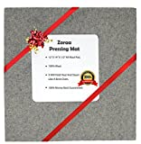 ZORAA Pressing Mat for Quilting: 100% Wool Quilter's Pressing Mat for Professional Ironing| Portable Quilting Heat Press Pad for Traveling, Camping, College| Top Craft, Sewing, Embroidery Iron Pad