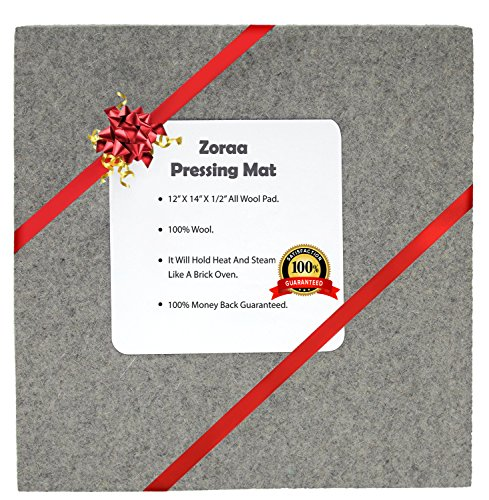 ZORAA Pressing Mat for Quilting: 100% Wool Quilter's Pressing Mat for Professional Ironing| Portable Quilting Heat Press Pad for Traveling, Camping, College| Top Craft, Sewing, Embroidery Iron Pad by ZORAA LLC.