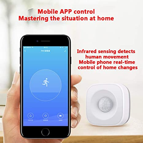 Aobiny Smart Home PIR Motion Detector,Wireless WiFi Smart Home PIR Motion Detector Sensor Security