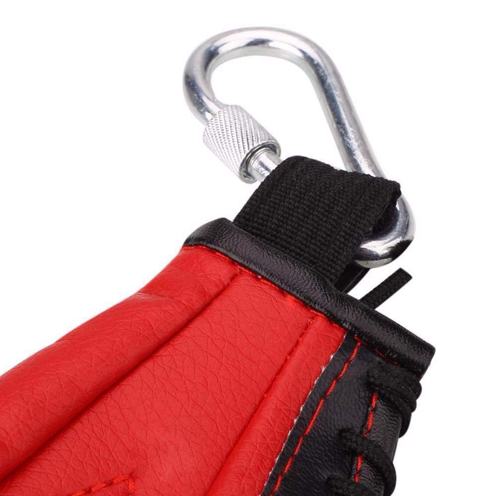 Red GZQ Speed Bag Leather Swivel Boxing Punch Bag Training Hanging Speed Dodge Ball for Adults and Kids Children