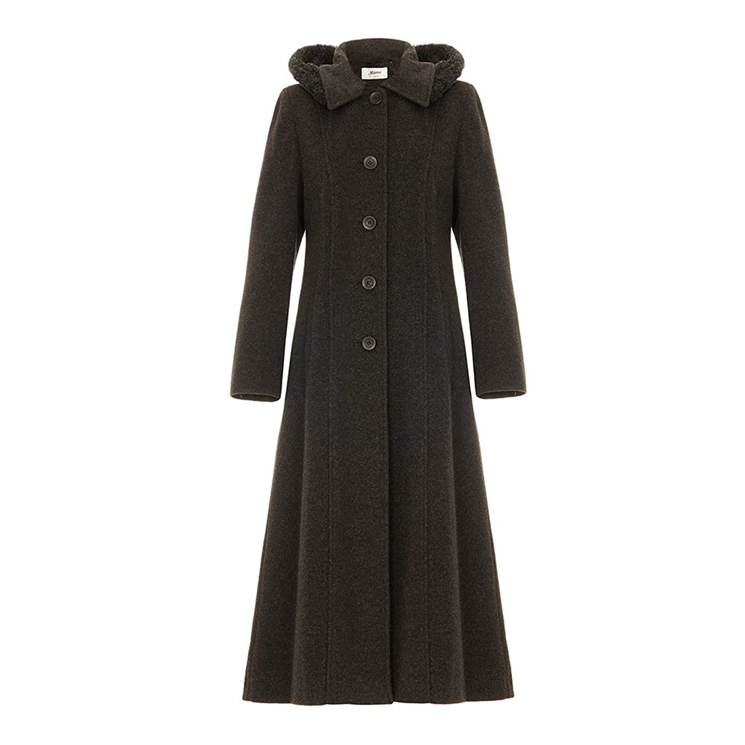 1930s Style Coats, Jackets | Art Deco Outerwear De La Creme Single Breasted Detachable Fur Hood Wool Winter Trench Winter Coat $149.99 AT vintagedancer.com
