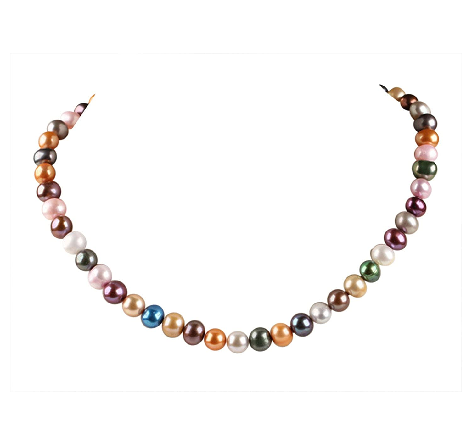 Treasurebay Stunning Multicolour 67mm Freshwater Pearl Necklace Length:  45cm Plus 5cm Chain Extender  Prsented In A Beautiful Jewellery Gift Box: