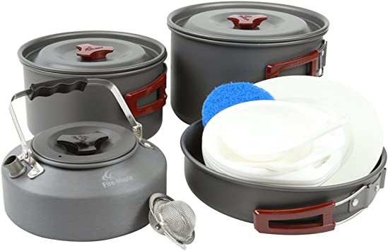 Fire-maple - Batería de cocina plegable para camping al aire ...