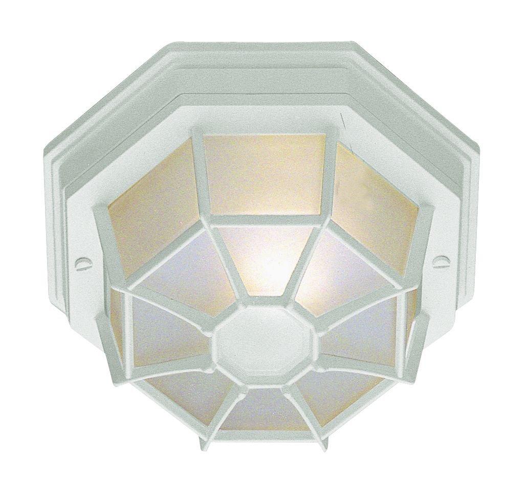 Trans Globe Lighting 40582 WH Outdoor Benkert 5'' Flushmount Lantern, White