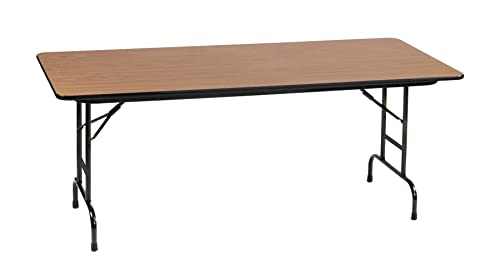 Correll CFA3060PX-06 Heavy Duty Adjustable Height Folding Table, High Pressure Laminate Top, 30 x 60 , Medium Oak