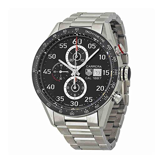 TAG Heuer Carrera - Reloj (Reloj de pulsera, Masculino, Cerámico, Acero,