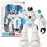 vobome Toddler RC Intelligent Robot LED Gesture Induction Dancing Robot Kids Toy Sound Toy