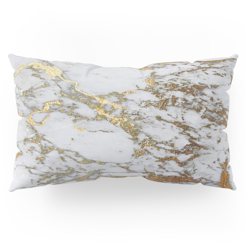 Society6 Gold Marble Pillow Sham King (20'' x 36'') Set of 2