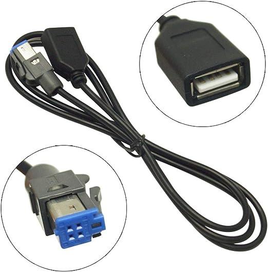 Elegantamazing Cable Adaptador USB Hembra a AUX-In de 4 Pines para Reproductor de CD Auxiliar de Coche para Su-baru Forester XV Outback Legacy USB2.0 MP3 CD Tool