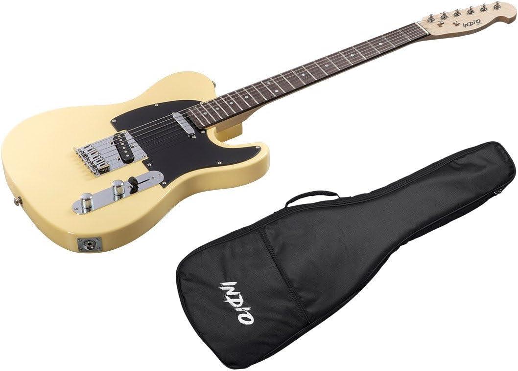 Indio Retro Classic guitarra eléctrica con funda bag-blond: Amazon ...