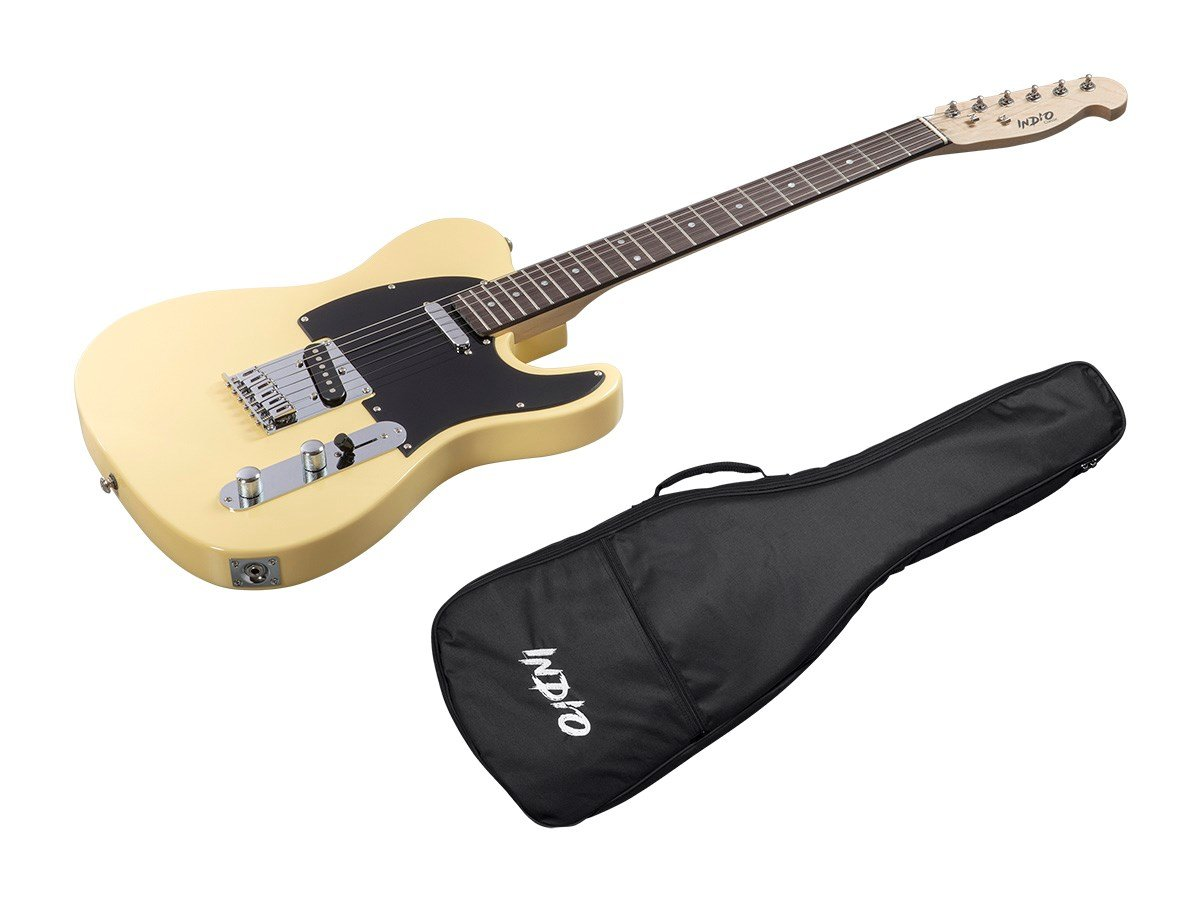 Indio Retro Classic guitarra eléctrica con funda bag-blond: Amazon.es: Instrumentos musicales