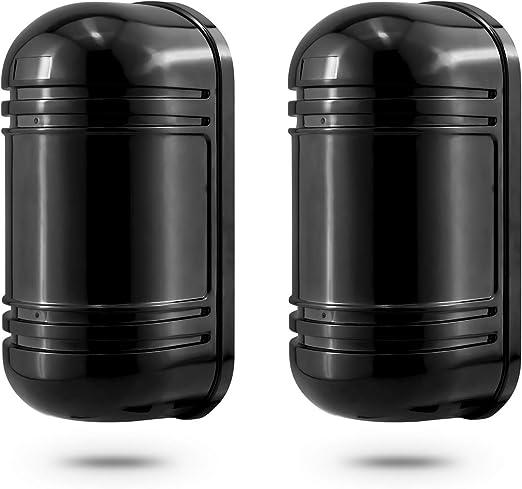 KERUI Cellule Double Faisceau Barrière Infrarouge Extérieure 100m  ABT-100Pour Alarme Maison - Détecteur de Présence Barrière Infrarouge  Rayon/Faisceau ...