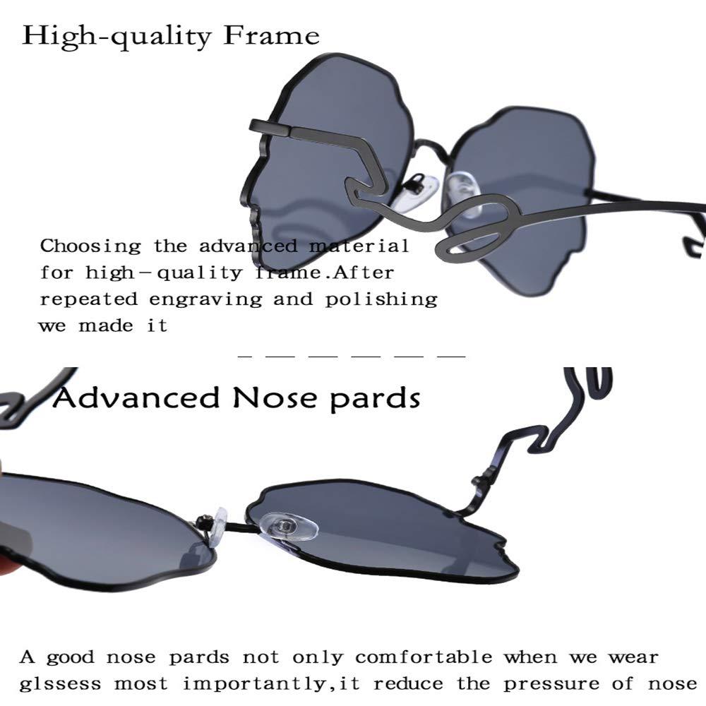 Amazon.com: DASHAN - Gafas de sol para mujer (marco de metal ...