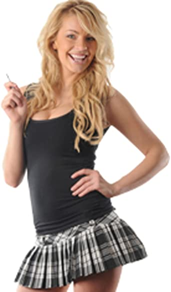 "Girls Women/'s micro mini Hipster tartan kilt side zip pleated skirts length 12/"""