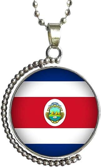 GiftJewelryShop Burundi Flag Glass Cabochon Rotatable Lucky Pendant Necklace