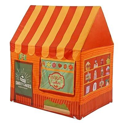 Actnow Tienda campaña Infantil para niños/casa de Juego - Color marrón: Juguetes y juegos