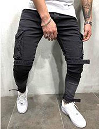 Frozac 2019 Fashion Men Jeans Streetwear Hip Hop Design Slim Skinny