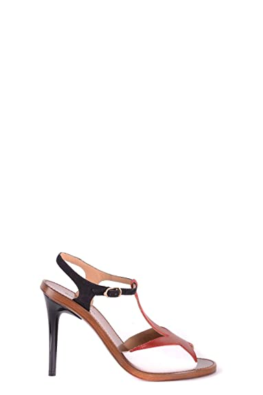 b19c5dcbb9736 L'Autre Chose Damen MCBI30479 Rot Leder Sandalen: Amazon.de: Schuhe ...