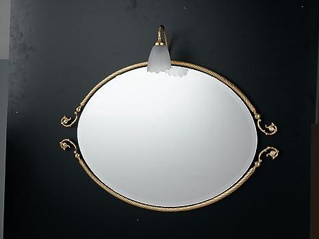 Specchio con applique victoria oro classico victoria flab bagno