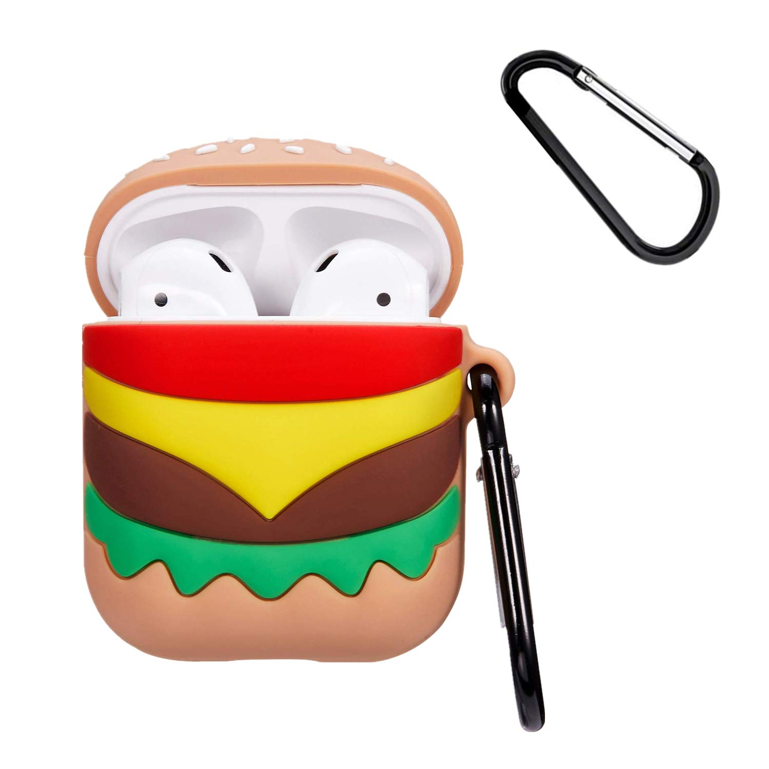 3D Mike Mulafnxal for Airpods 1/&2 Case,Cute Funny Cartoon Animal Character Soft Silicone Airpod Cover,Kawaii Fun Cool Keychain Design Skin,Fashion Designer Cases for Girls Kids Teens Ladies Air pods