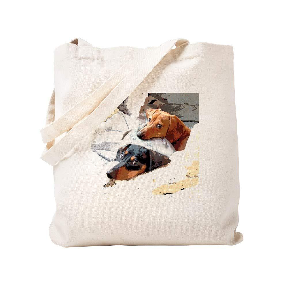 13b601ea8e2 Amazon.com: CafePress Naptime Dachshund Dogs Natural Canvas Tote Bag ...