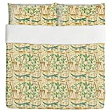 Savanna Duvet Bed Set 3 Piece Set Duvet Cover - 2 Pillow Shams - Luxury Microfiber, Soft, Breathable