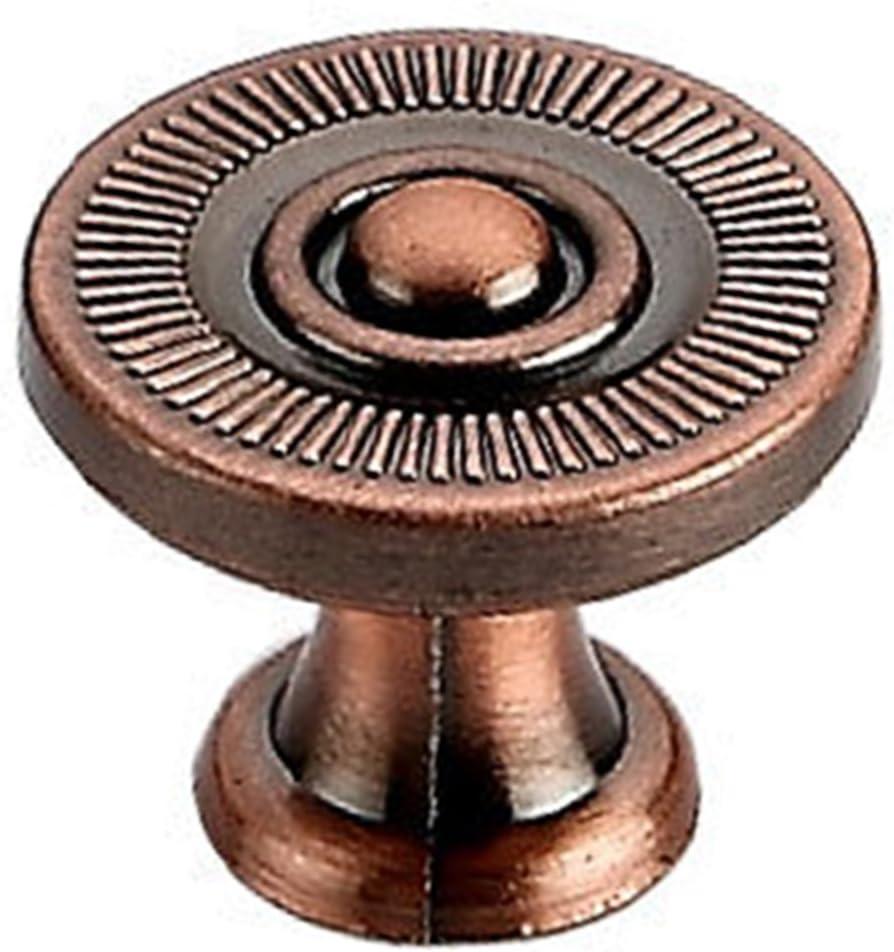 2.2 MRKE 12pz Vintage Metallo Pomelli per Mobili Retro Maniglie Mobili Manopola del Cassetto Credenza Armadio Porta Armadietto 1.9CM 2.2 Bronzo