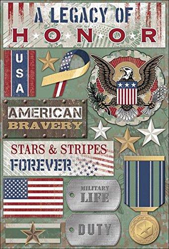 Karen Foster Design Acid and Lignin Free Scrapbooking Sticker Sheet, A Legacy of Honor (Foster Design)