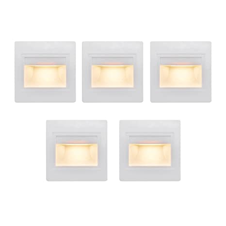 BOLXZHU 5 Pack LED Recessed Stair Light, LED Corner Wall Lamp 85 265V