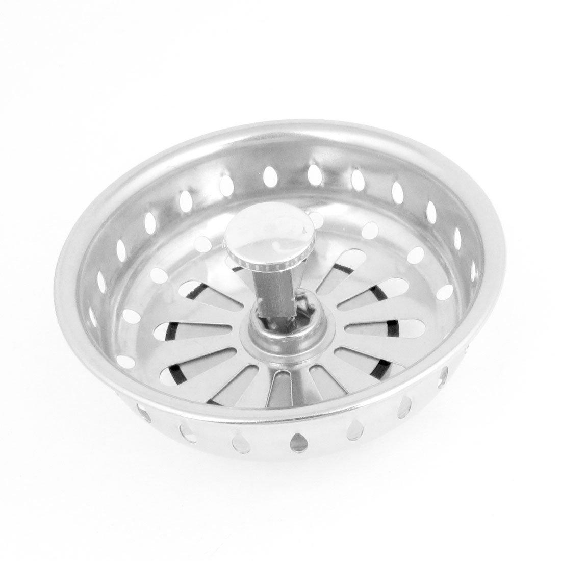 Stainless Steel Sink Drain Drainer Basket Strainer Stopper 3.2 Inch ...
