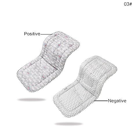 Revestimiento reversible universal del asiento del bebé del algodón puro para el cochecito, asiento de carro, basculador, gorila
