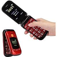 Pomya Teléfono Celular Desbloqueado, Pantalla Táctil con Asistencia De Voz Completa, Teléfono Móvil con Tapa para Adultos Mayores De 100-240 V(US)