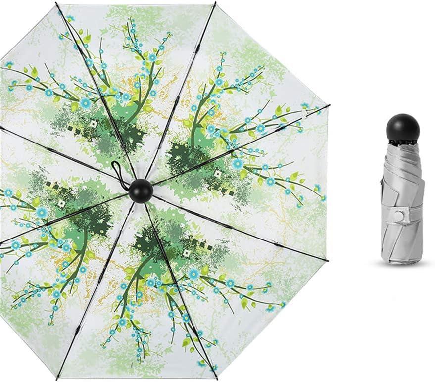JUNDY Paraguas portátil Mini Plegable Resistente al Viento – Duradero Paraguas de Viaje Sombrilla sombrilla Plata Titanio 50% cápsula colour5 95cm: Amazon.es: Hogar