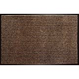 Enviroback Apache Rib Door Mat, Cocoa, 18-Inch by 27-Inch