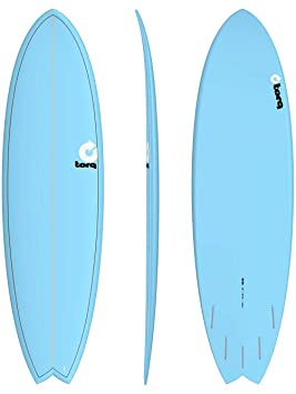 TORQ Tabla de Surf epoxy Tet 6.6 Fish Blue