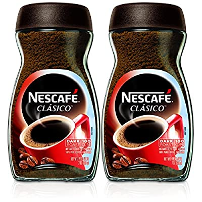 Nescafe Clasico Instant Coffee,Dark roast, 7 Ounce (Pack of 2) by Nescafé
