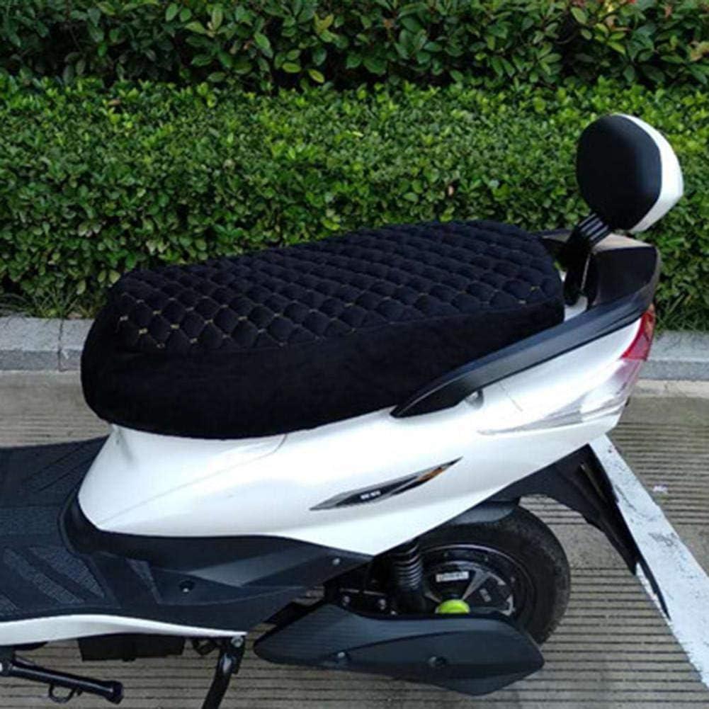 Coprisedile per moto Peluche caldo morbido per linverno sedile per scooter elettrico Coprisella Protezione per sedile Protezione antipolvere UV