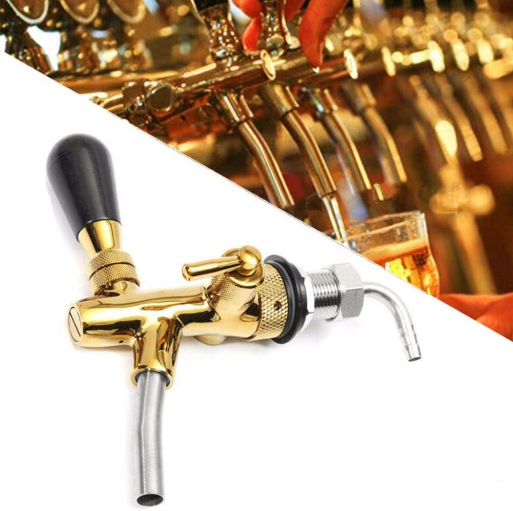 WHBQ Grifo Cerveza para Casa, Dispensador De Bebidas, G5/8 Grifo Portatil Ajustable De Cerveza para Bares Hoteles Restaurantes Hogar