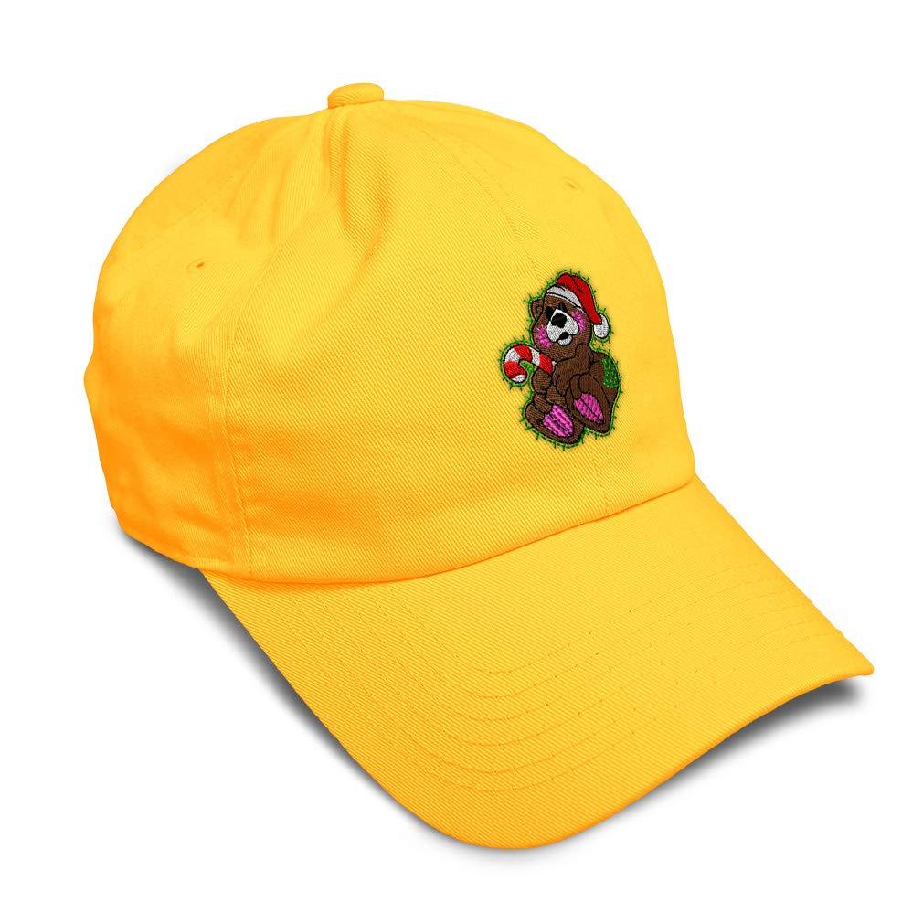 Custom Soft Baseball Cap Christmas Brown Bear Embroidery Twill Cotton