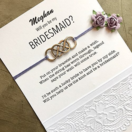 Amazon Will You Be My Bridesmaid Gifts Custom Bracelets On
