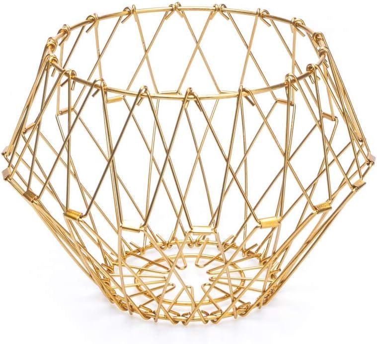 Balvi Frutero Multi Form Color Dorado Contenedor Decorativo Ajustable Metal