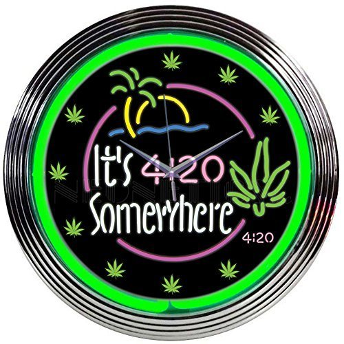 Neonetics It's 4:20 Somewhere Neon Clock by Neonetics