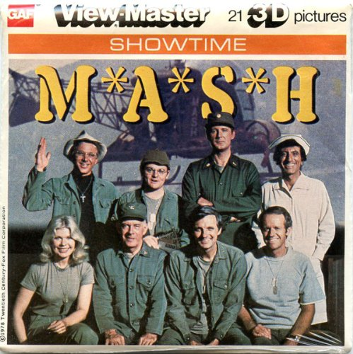 Classic ViewMaster - Showtime Series - M*A*S*H - ViewMaster Reels 3D - Unsold store stock - never opened